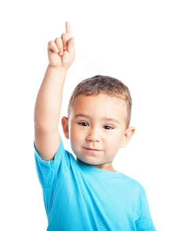 Child with a raised finger
