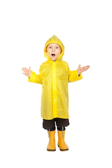 Child with raincoat
