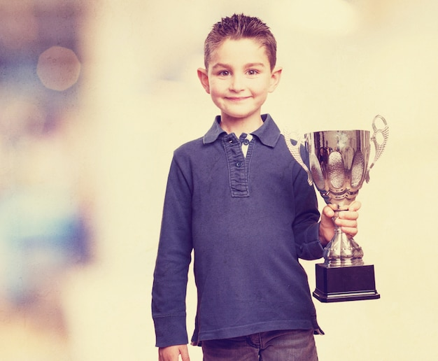 Child with a trophy