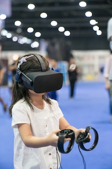 Child with virtual reality