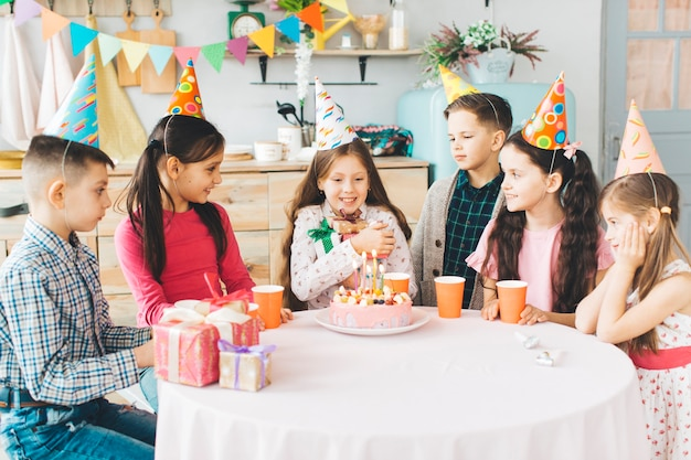 Children celebrating a birthday