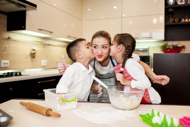 Children cooking baking child kitchen