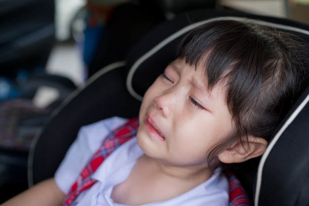 Children crying, little girl cry, feeling sad, young girl unhappy