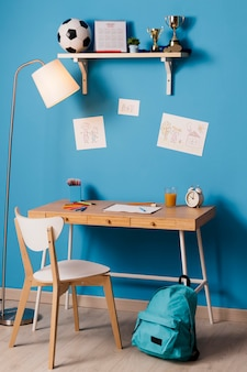 Children desk interior design