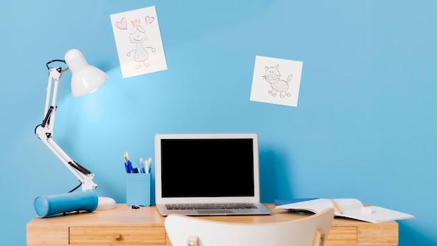 Детский письменный дизайн интерьера