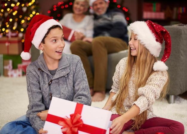 子供たちはそのような素晴らしい贈り物を期待していませんでした