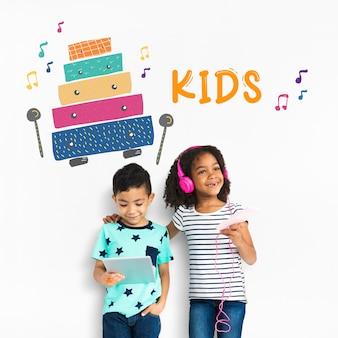 Bambini prima educazione attività per il tempo libero musica per bambini