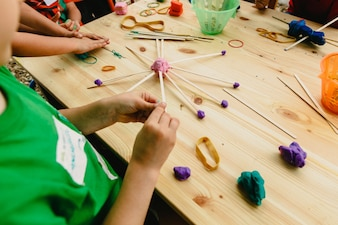 Children having fun playing
