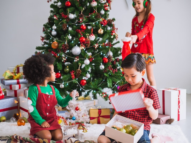 Children of many nationalities are celebrating christmas day