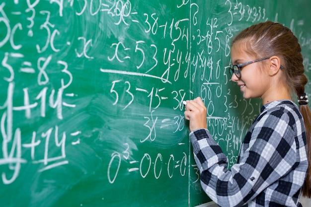 Children do math in elementary school.