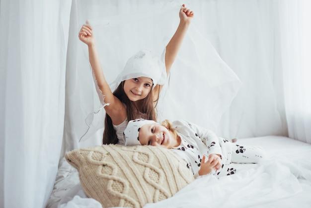 Children in pajamas