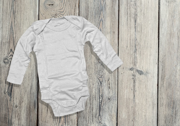 Children's clothing on wooden board