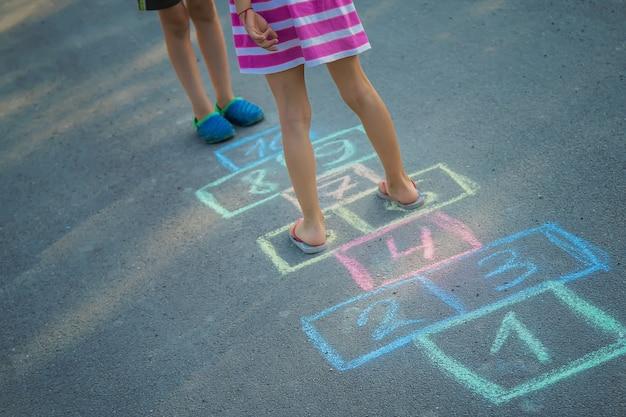 古典の子供向けゲーム。セレクティブフォーカス。