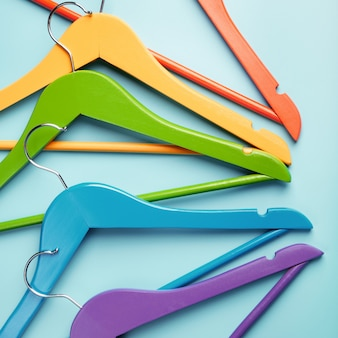 Children's hangers for clothes of rainbow colors