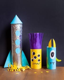 Детские поделки из бумаги и фольги
