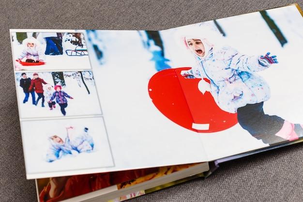 Children's photo book. children's emotional portrait.