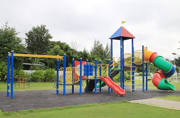 Children's playground at park