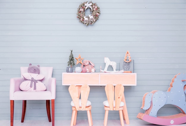 Children's room decor in the new year's style