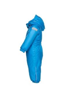 Детская зимняя одежда для прогулок с капюшоном синего цвета электрик