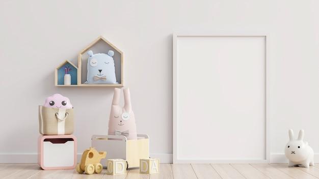 Детские игрушки на белой стене