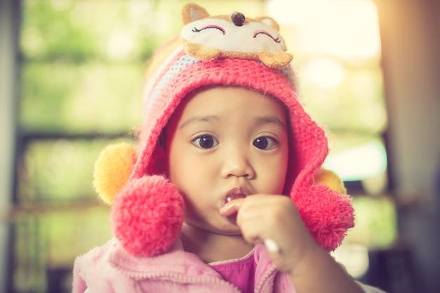 막대 사탕 어린이 빈티지 색상