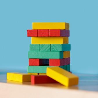 Children wooden brick toy