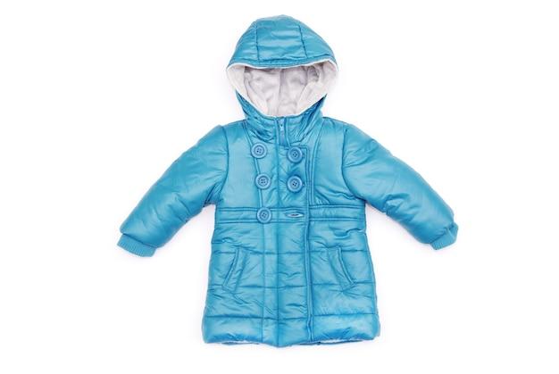 Детская куртка, изолированные на белом фоне