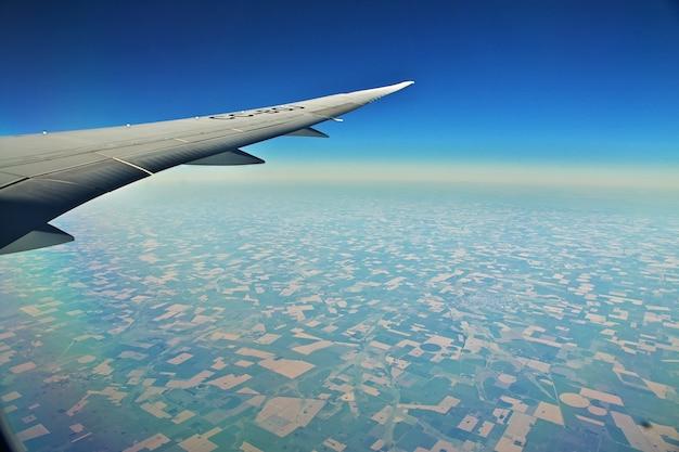 칠레 비행기에서보기