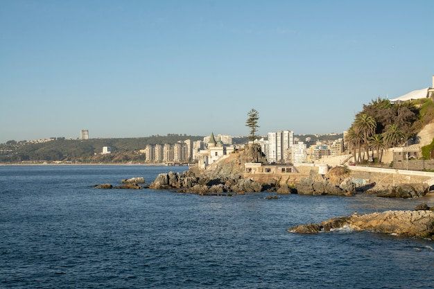 Vina del mar라고 불리는 칠레 해안