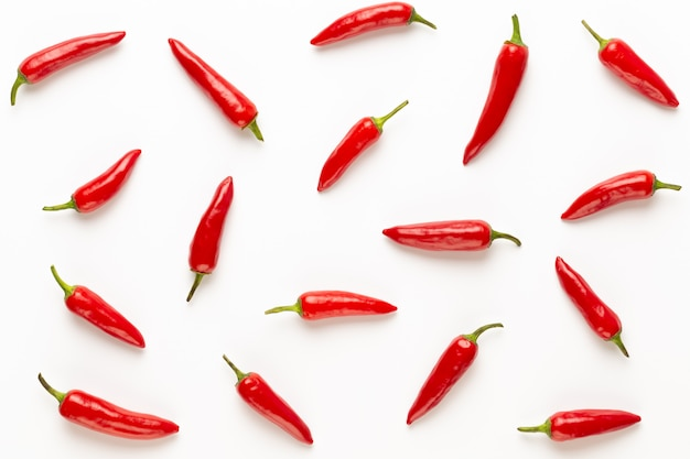 Chili or chilli cayenne pepper isolated on white cutout.