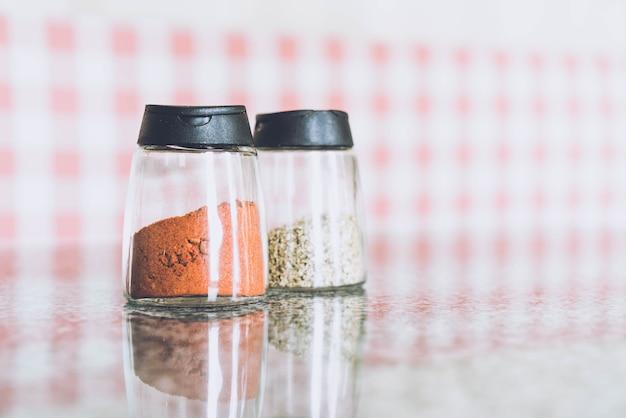 Chili and oregano bottle