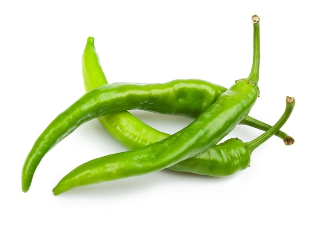 Chili pepper isolated on white surface