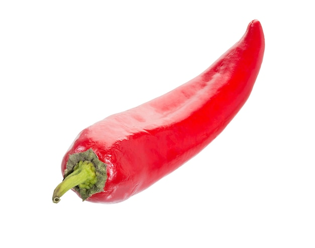 Chili pepper isolated on a white surface