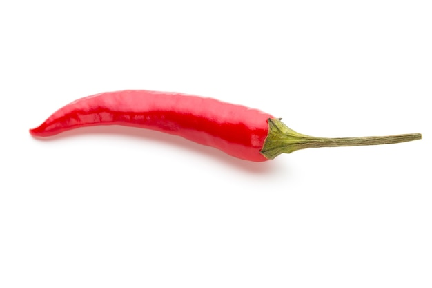 Chili pepper isolated on white.
