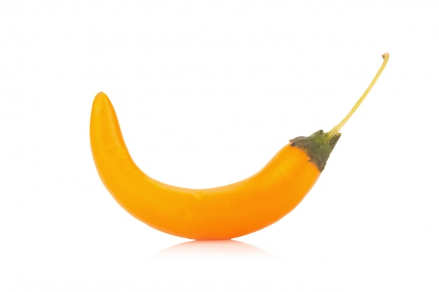 Chili pepper yellow / orange isolated on a white background