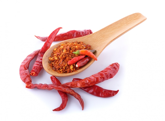 Chili on white background