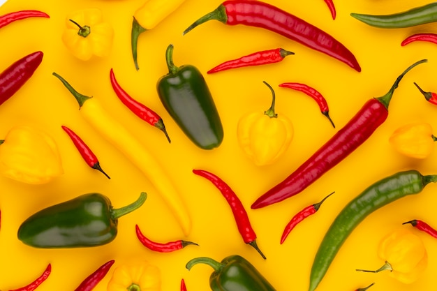 Chilli pattern with a pastel background, pattern background design.