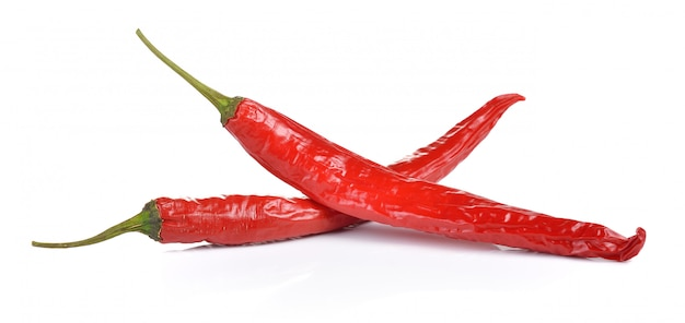 Chilli peppers on white wall