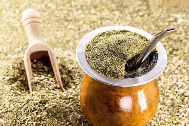 Chimarrã£o、伝統的なブラジルのマテ茶。