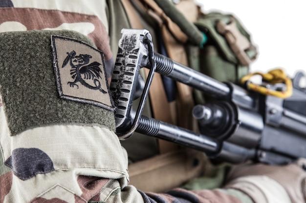 フランス第1海兵歩兵連隊rpimaの空挺部隊のキメラチェルブロン