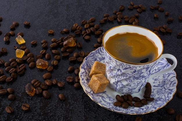 China cup of espresso coffee
