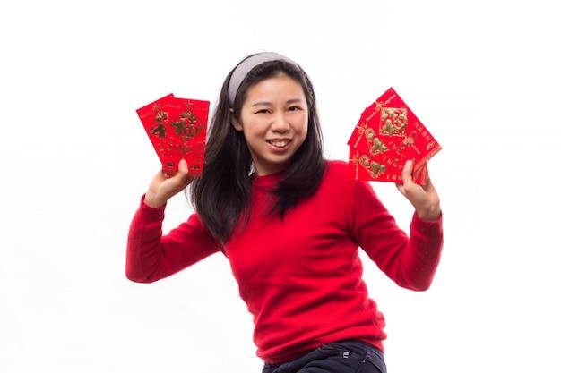 Cina vestito dalla donna sorriso lunare
