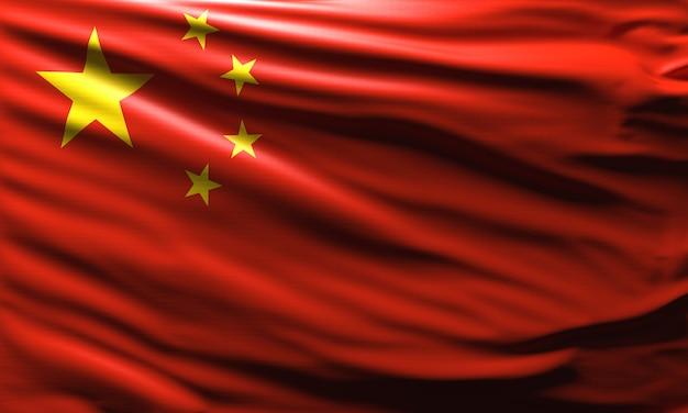 중국 국기 배경에 흔들며 중국 국기 국가의 국가 상징