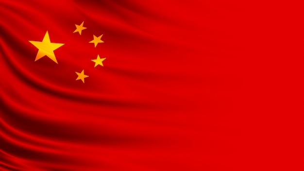 China flag with copy space