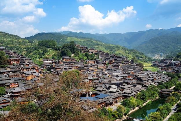 China guizhou xijiang miao village