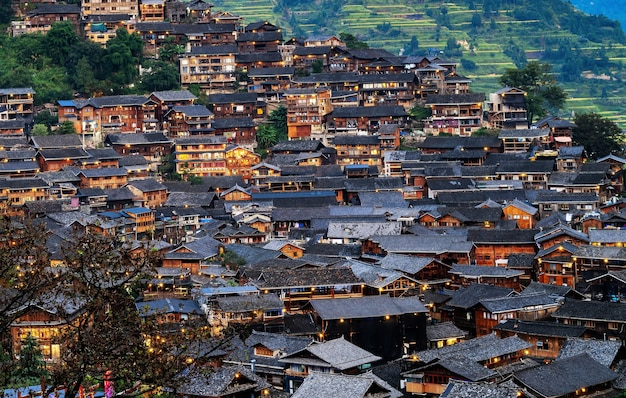 중국 귀주 시장 먀오족 마을