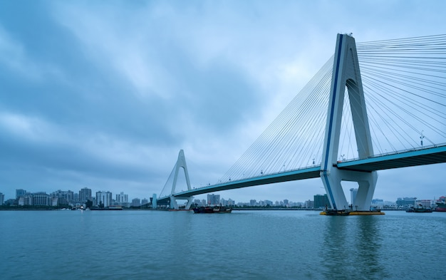 China haikou century bridge