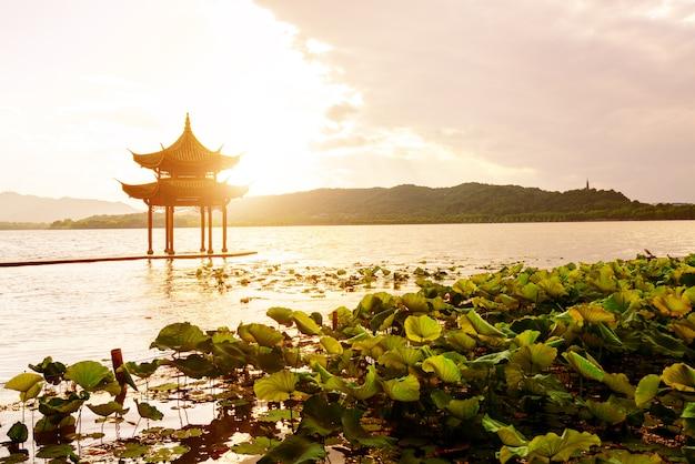 Китай ханчжоу западное озеро пейзаж