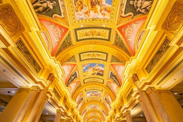 中国、マカオ -  2018年9月10日 - ベネチアランドマントの高級ホテルリゾート&カジノゲーム