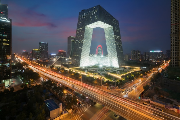 China's beijing city, a famous landmark building